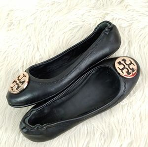 TORY BURCH LEATHER BALLET FLAT euro 39